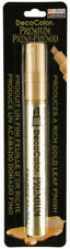 Marvy Uchida DecoColor Premium Gold Leaf Opaque Paint Marker Large Chisel Tip