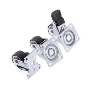 4pcs Furniture Casters Wheels Soft Rubber Swivel Caster Roller Wheel HL