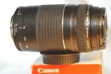 Canon EF 75-300mm f/4-5.6 III lens for EOS A2 620 Rebel T7 T6 90D 80D 5D 6D 7D