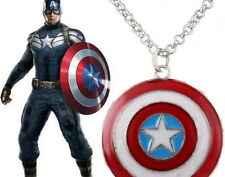 Pendentif bouclier captain america collier captain america shield pendant