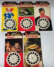 Rare Vintage GAF View-Master Photos Sealed - Bikes/Circus/Bozo etc - 5 Reels