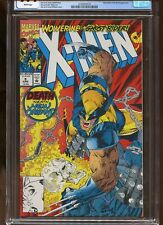 X-MEN #9 CGC GRADED 9.4 WHITE PAGES 1992 JIM LEE ART / GHOST RIDER & BROOD APP.