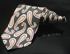 Robert Talbott  Melvins Paisley Luxury Dapper Red Black White Tie
