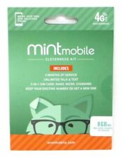 Mint Mobile Prepaid SIM Card with Unlimited Talk and Text 8GB/Month LTE for 3 Months