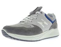 IGI & CO scarpe uomo stringhe grigio camoscio tela pelle casual sneakers casual