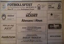 Bladet Friendly 27.7.1986 Ahus IF - Nottingham Forest