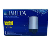 BRITA Tap Water Faucet Replacement Filters (3 Pack Silver) FR-200 USA Seller