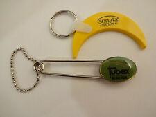 2 Vintage Drug Rep Pharma Advertising Key Chains Sonata Zaleplon  Tubex Injector