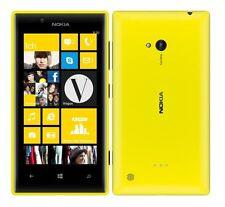 Nokia Lumia 720 Yellow Amarillo Windows móvil sin bloqueo SIM NUEVO