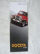 Kia rocsta-lista de precios-folleto brochure 04.1994