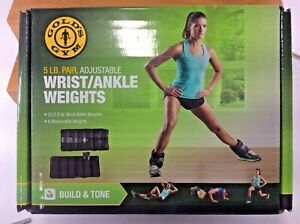 New Gold's Gym Adjustable Wrist/Ankle Weights - 5 lbs. total Weight