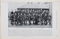 1900 Guerre des Boers Imprimé Officiers De The 17th Batterie Royal Field