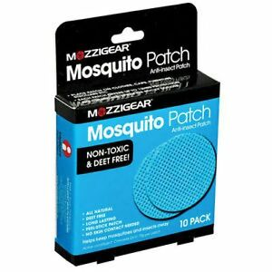 => Mozzigear Mosquito Patch 10 Patches, 3.5cm Diameter With Citronella Oil