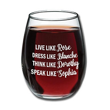 Golden Girls Funny Wine Glass 15oz - Inspired By Golden Girls Best Friends Quote