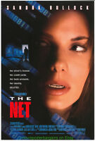 THE NET MOVIE POSTER Original 27x40 SANDRA BULLOCK + CHARLIZE THERON Bonus