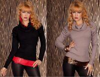 Pullover Maglia Donna Top JOJO FASHION B245 Grigio-Cenere o Nero Tg M/L