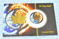 Kanada Maple Leaf Spezial Ying & Yang 24 Karat vergoldet 1 Unze Silbermünze 2015