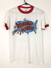 VINTAGE 80s WWF WINDHAM ROTUNDO T-SHIRT MEDIUM MIKE BARRY US EXPRESS WWE WCW NOS