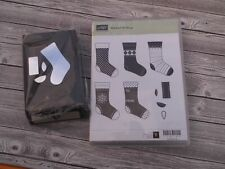 STAMPIN UP STITCHED STOCKING STAMP SET & STOCKING BUILDER PUNCH