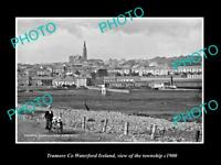 OLD LARGE HISTORIC PHOTO OF TRAMORE WATERFORD IRELAND, VIEW OF THE TOWN c1900 2