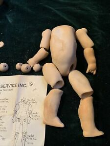 """Seeley Reproduction 7"""" Antique Doll Composition Body Toddler Unfinished"""