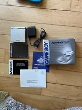 Nintendo Game Boy Advance SP Silver GBA AGS-001 Complete  (CIB) Tested And Works