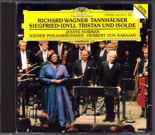Karajan: Wagner Tannhäuser Tristan et Iseult Siegfried-Idylles CD Jessye Norman