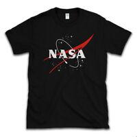 NASA T SHIRT Retro Space Logo, Black Heavy Cotton Tee, Sizes to 5XL