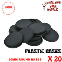 [20pcs x 50mm] Round Bases Gaming Miniatures and wargame Bases Model Warhammer