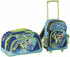 Heys Disney Pixar Toy Story Toys at Play 2pc Rolling Backpack & Duffle Woody Buz