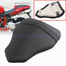For DUCATI 1098 1198 848 Motorcycle Black Leather Rear Passenger Seat Pillion