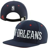 NEW Adidas New Orleans Pelicans Oversized Wordmark Strapback Hat Stitch NBA $35