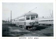 LL300P 1950s ILLINOIS TERMINAL SYSTEM CO RAILROAD CAR #473 GRANITE CITY IL BARN