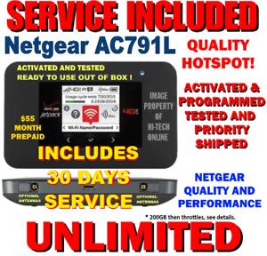 NETGEAR HOTSPOT ⭐ UNLIMITED DATA ⭐ 4G LTE DATA ⭐ PAGE PLUS $55 ⭐ VERIZON AC791L