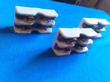 Lot 3 Vintage Ge 705 Ceramic Fuse Holder Block 2 Pole Ham Radio Hobby Railroad