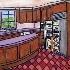 Basenji dog kitchen art tile coaster gift Jschmetz modern folk