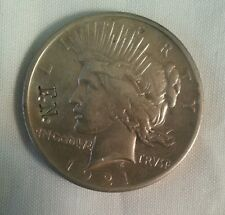 1921 high relief peace silver dollar countermarked FN counterstamped