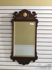 33741:  FRIEDMAN BROTHERS #6525 Chippendale Mahogany Shell Carved Mirror - New