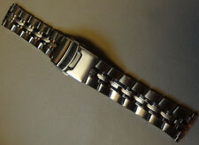 Mens Timex Stainless Steel 16mm 17mm 18mm 19mm 20mm Watch Band Double Fliplock