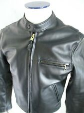 Mr S authentic cafe racer black leather gay fetish made USA motorcycle jacket 42