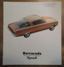 Plymouth Barracuda Original 1965 USA Marketing sales brochure