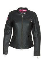 Harley-Davidson 98022-12VW Womens Pink Label Embellished Black Leather Jacket
