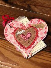 Premade Heart Chipboard Scrapbook. PreMade Baby Album. Wedding Scrapbook