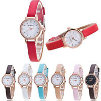 Fashion Women Ladies Girls Leather Quartz Analog Rhinestone Dress Wrist Watches