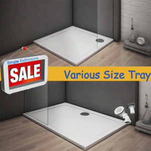 New Stone Tray Shower Enclosure Walk In Bathroom Square / Rectangle + Free waste