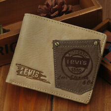 FM-468 Men's 2017 money BIFOLD Genuine Leather wallet purse + Gift Box Free P&P