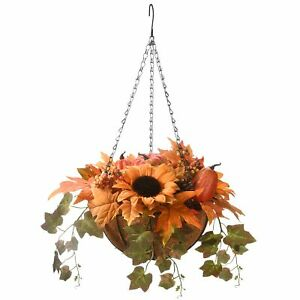 """National Tree Company-18"""" Harvest Hanging Basket with Ivy"""