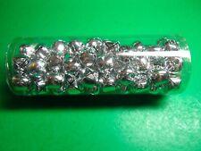 "(75) 3/4"" Silver Metal Jingle Bells Christmas Craft Embellishments (Cm)"