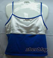 Catalina Ocean Gear Swimsuit Tankini Sz XL Top Swimwear Blue
