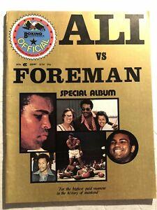1974 Boxing Illustrated MUHAMMAD ALI vs FOREMAN Championship Fight Zaire AFRICA